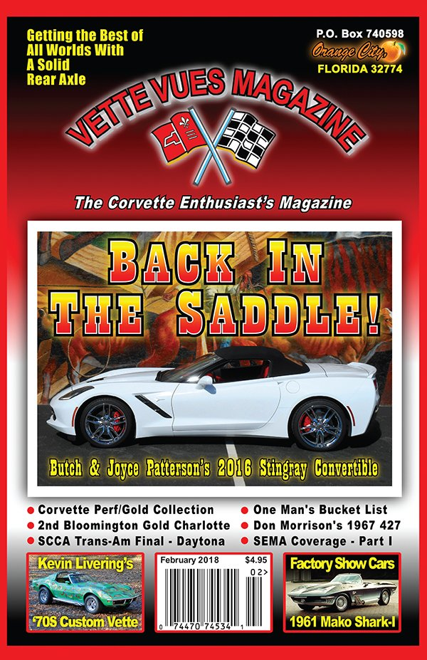 February 2018 Cover of Vette Vues Magazine