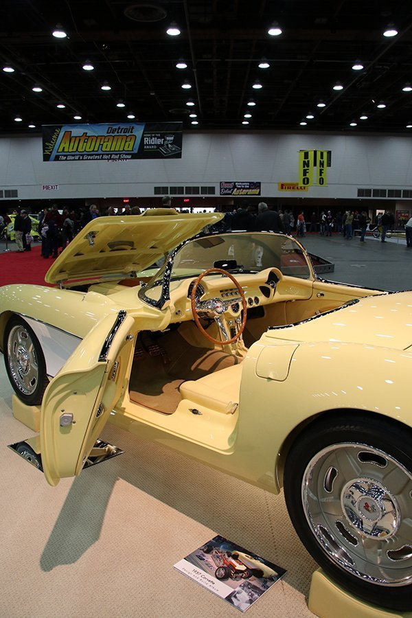 Don Habben, from Washougal (WA), trailered his yellow 1957 Corvette.