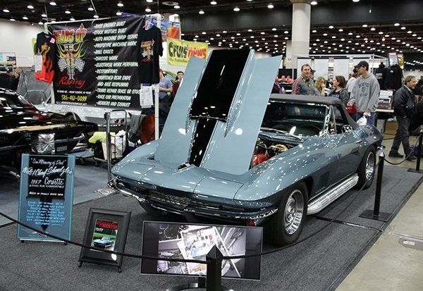 Norm Schmelzle, from Troy (MI), brought his 1967 Silver Corvette roadster. This car is largely stock in appearance and has received its share of love and affection.