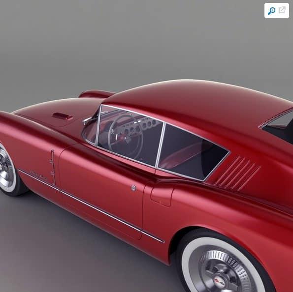 1954 - Turbosquid model for Corvette Corvair Concept