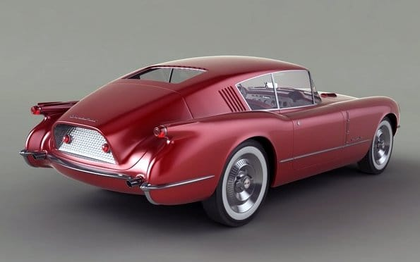 1954 - Turbosquid model for Corvette Corvair Concept