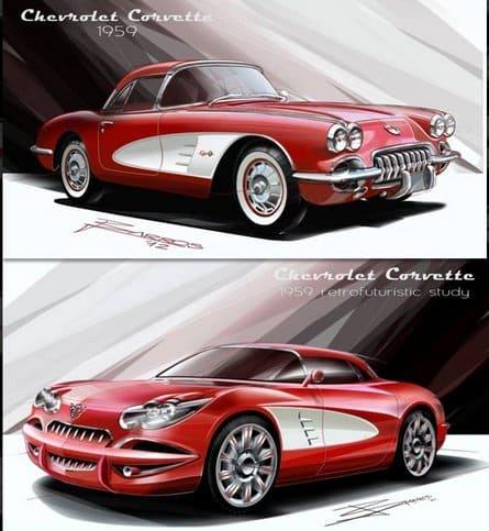 1959 Nelson Barros Corvette Design Concept