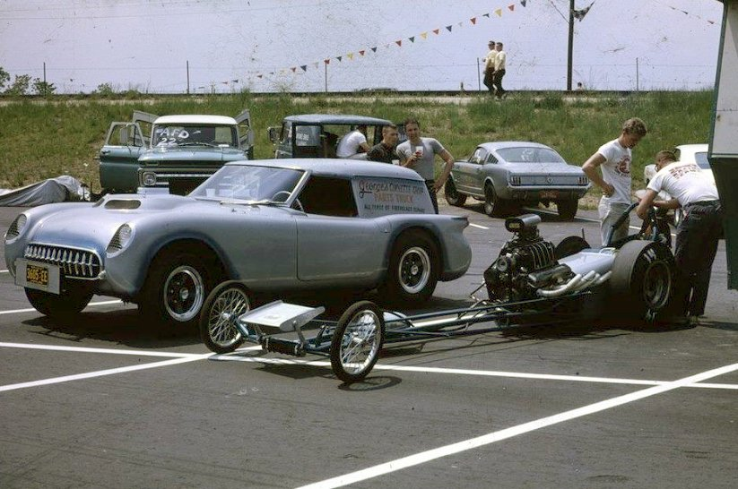 1953-55 - Custom Corvette as Track Pusher