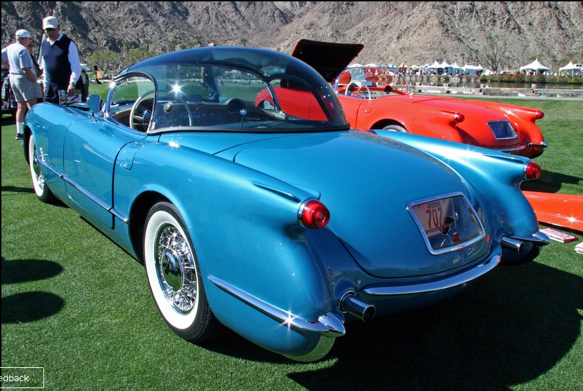 1954 Corvette Bubbletop With Wire Wheels