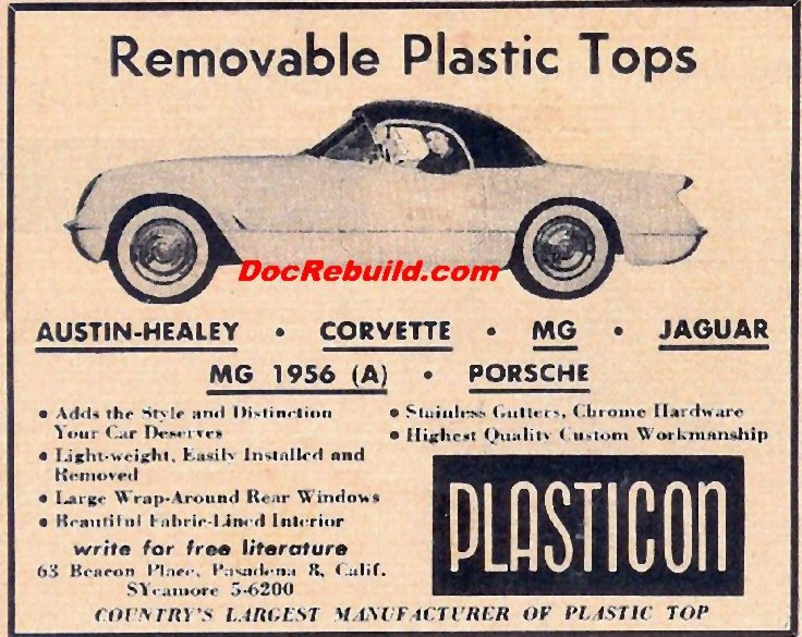 1955 Corvette Bubble Top Vintage Magazine Ads