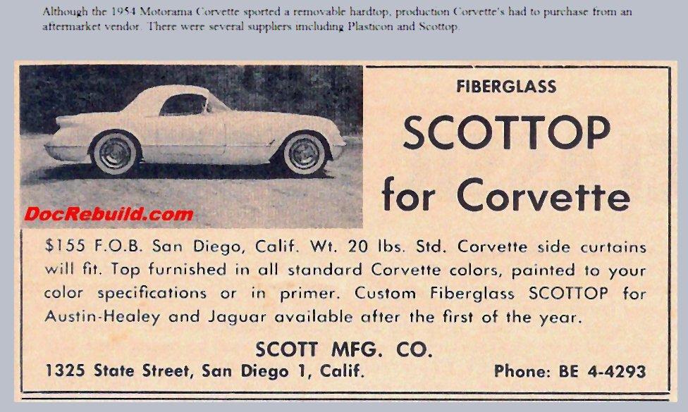 1955 Corvette Bubble Top Vintage Magazine Ads