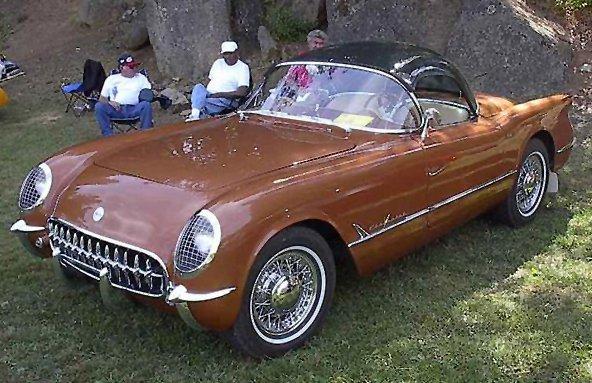 1955 Corvette with Plasticon Hardtop