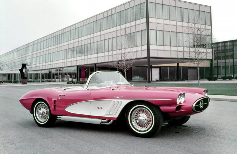 1958 XP-700 Corvette in Front of Tech Center