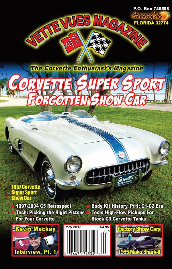 COVER OF THE MAY 2018 ISSUE VETTE VUES MAGAZINE