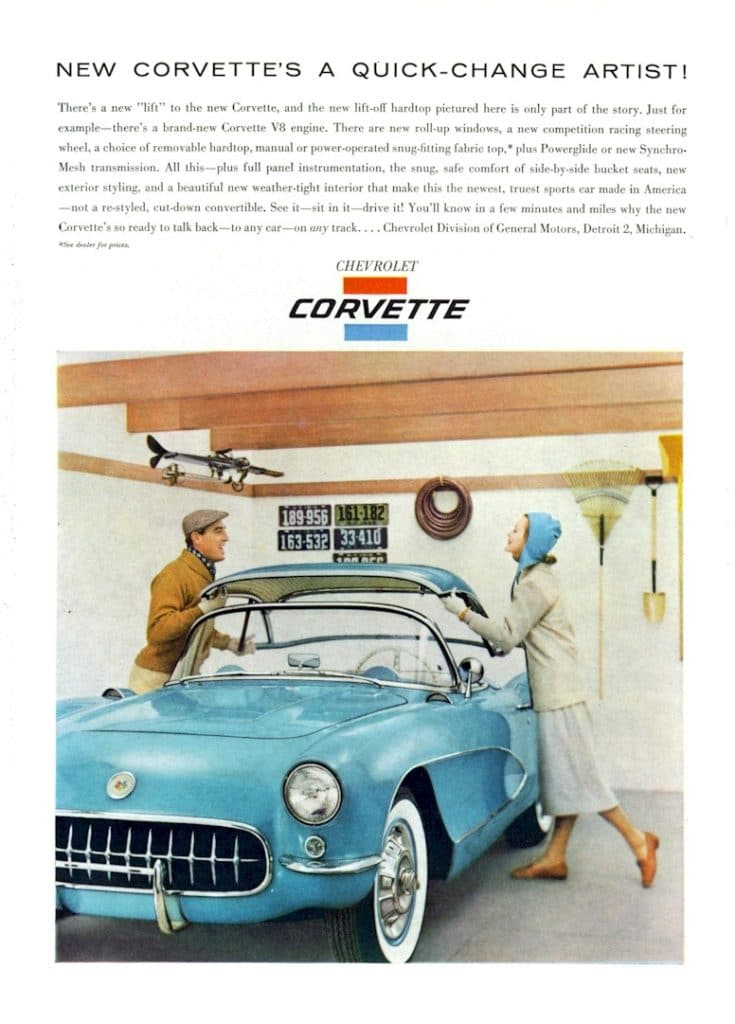 New Corvette's a Quick-Change Artist - 1956 Corvette magazine advertisement