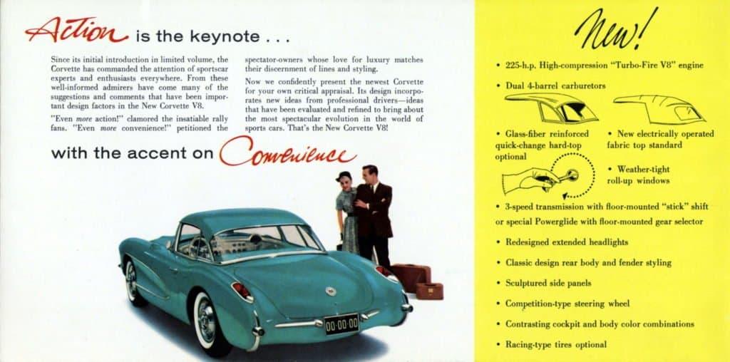 1956 Corvette Brochure