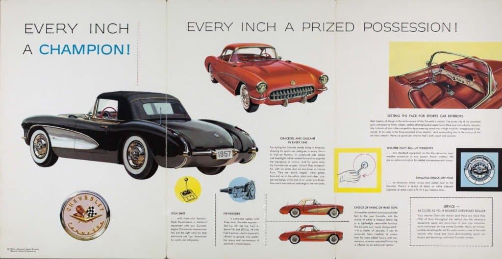 1957 Corvette Brochure