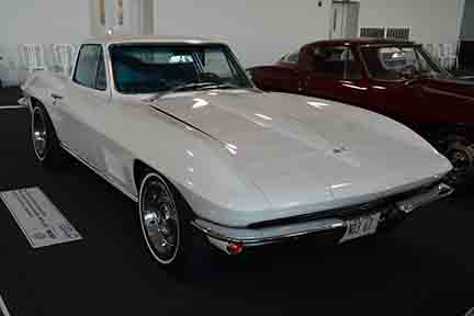 1967 Corvette NO3 Big Tank from the Richard Cohen's Collection going to the 2018 Mecum Auction Indy. It is on display in the Bloomington Gold Collection in 2017. Photo Credits: Jack Doke