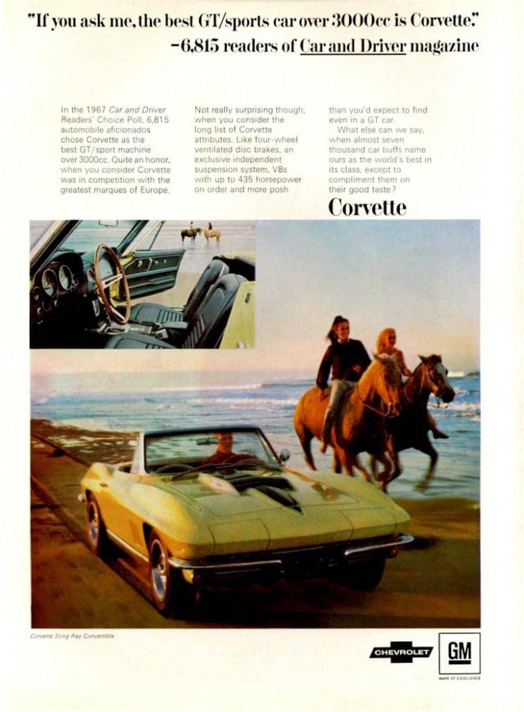 Vintage 1967 Corvette Advertisement