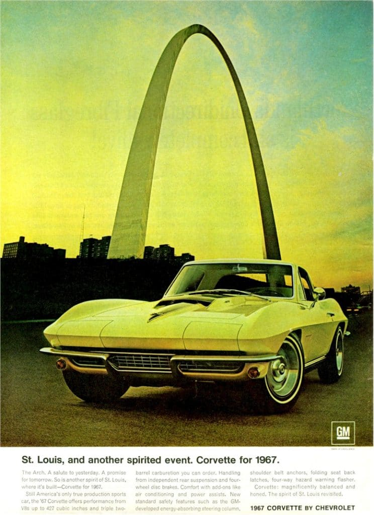 Vintage 1967 Corvette Advertisement