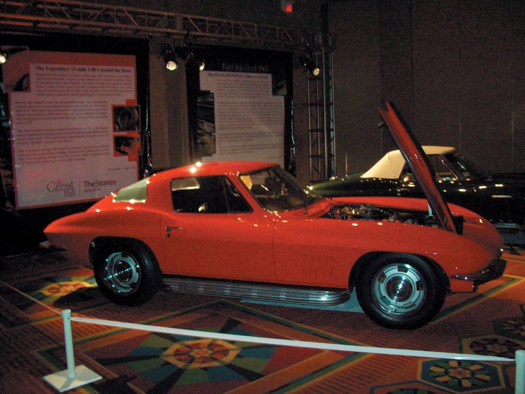 1967 L88 Corvette known as the 12-mile Corvette at the Bloomington Gold Great Hall in 2010.