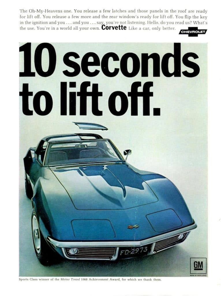 1968 Corvette Advertisements