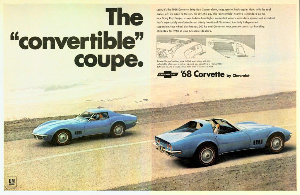 Vintage 1968 Corvette Advertisements