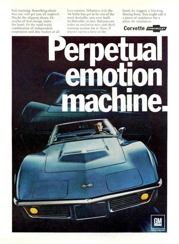 Vette Vues Magazine | 1968 Corvette Advertisements1968 ...
