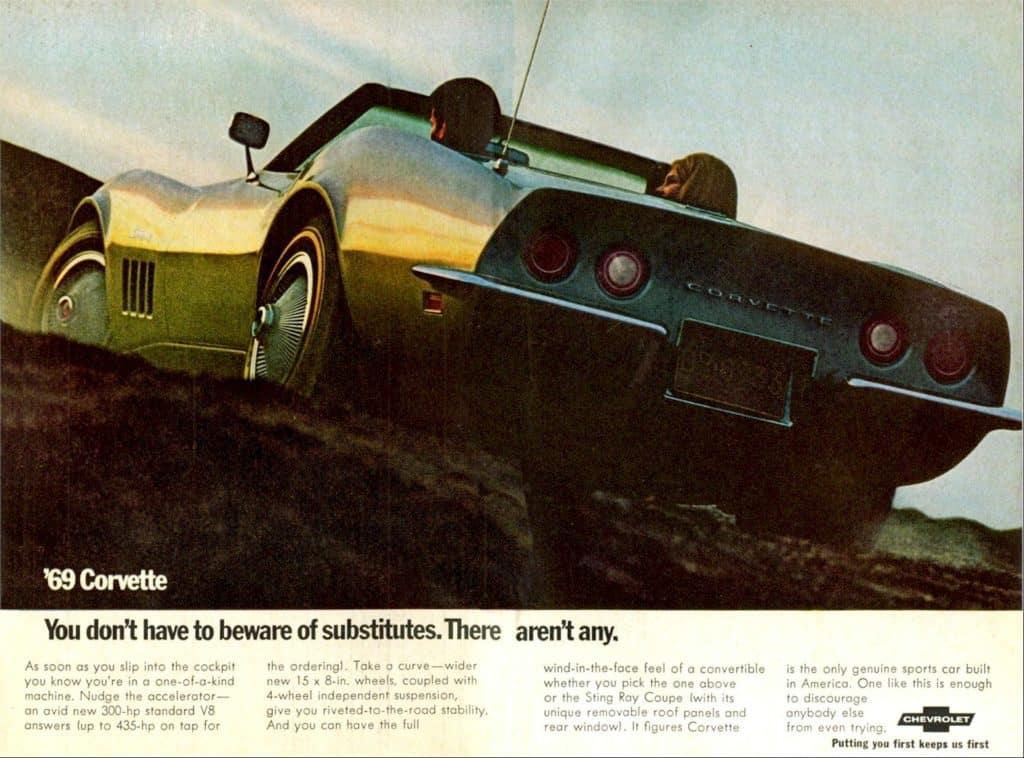 1969 Corvette Advertisements
