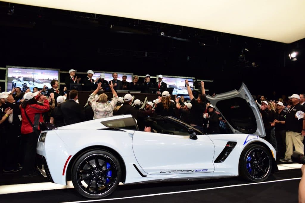 The 2018 Corvette Carbon 65 Edition coupe signed by President George W. Bush was bought by John Staluppi, owner of Atlantic Automotive Group, for $1.4 million. The proceeds will benefit the Bush Center's Military Service Initiative.