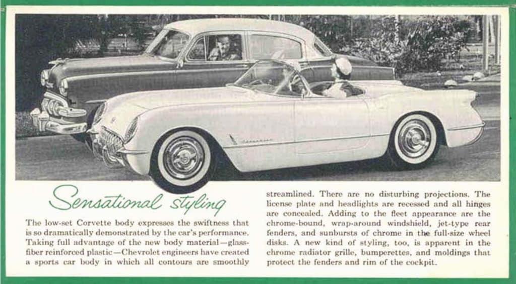 1954 Corvette Brochure