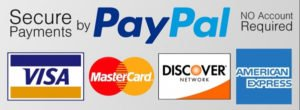 We accept PayPal, Visa, Master Card, Discover, and American Express.  You do not need to have a PayPal account to checkout.