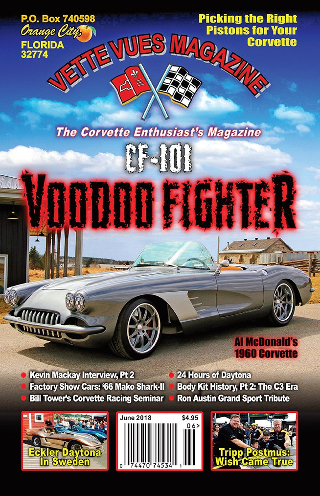JUNE 2018 ISSUE VETTE VUES MAGAZINE COVER