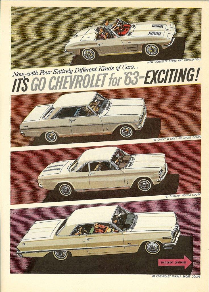 1963 Chevrolet Super Sport Magazine Advertisement including Corvette