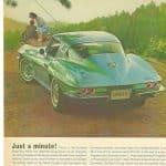 Just a minute - 1964 Corvette Advertisement
