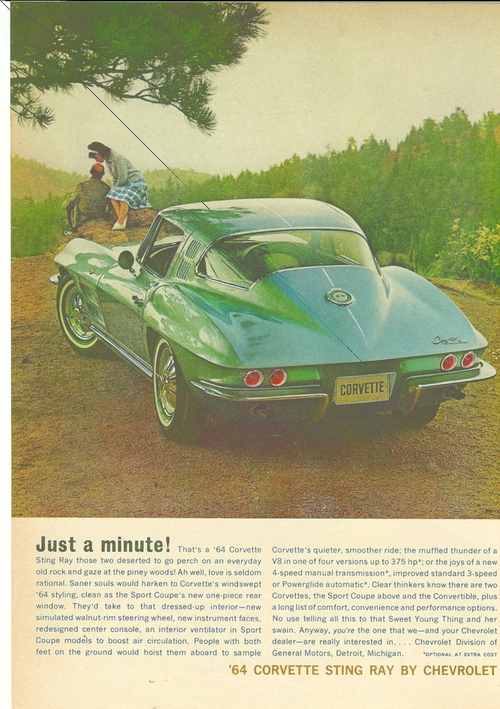 Vintage 1964 Corvette Magazine Advertisements
