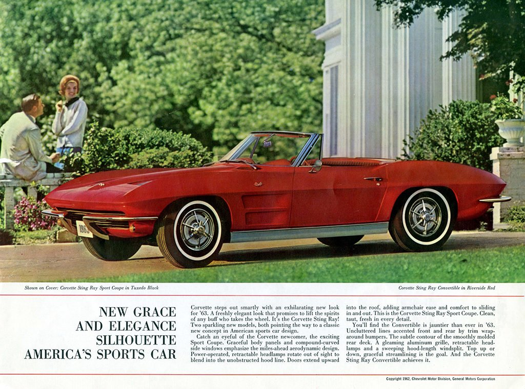 1963 Corvette Brochure Page 2
