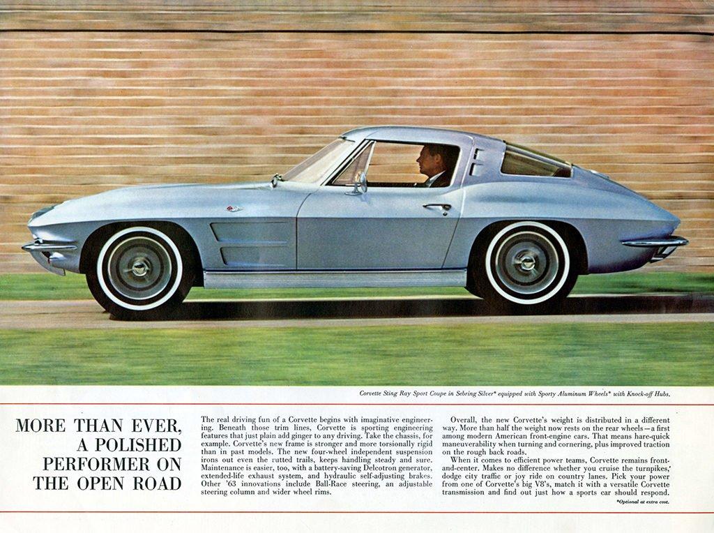 1963 Corvette Brochure Page 3