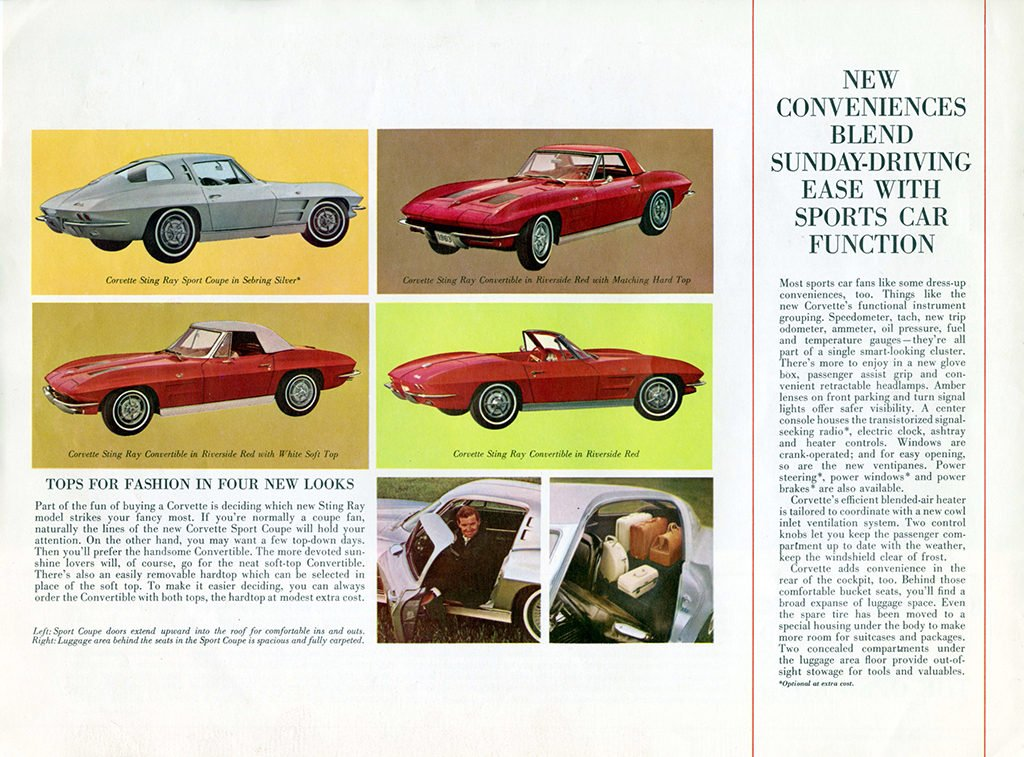 1963 Corvette Brochure Page 4