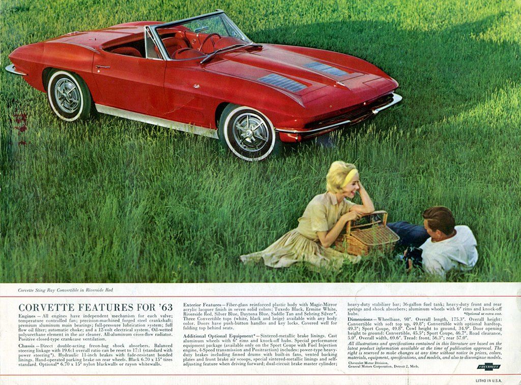 1963 Corvette Brochure Page 7