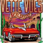 Vette Vues Magazine's See The USA theme Corvette T-shirt features a Red Mid Year Corvette.