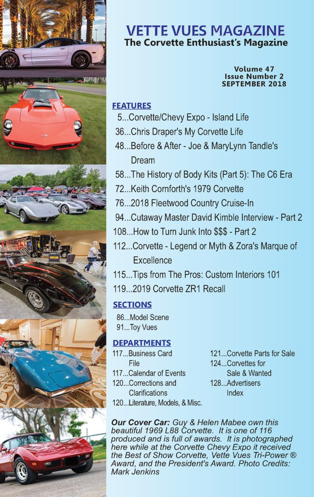 Vette Vues Magazine | September 2018 Issue Preview Vette
