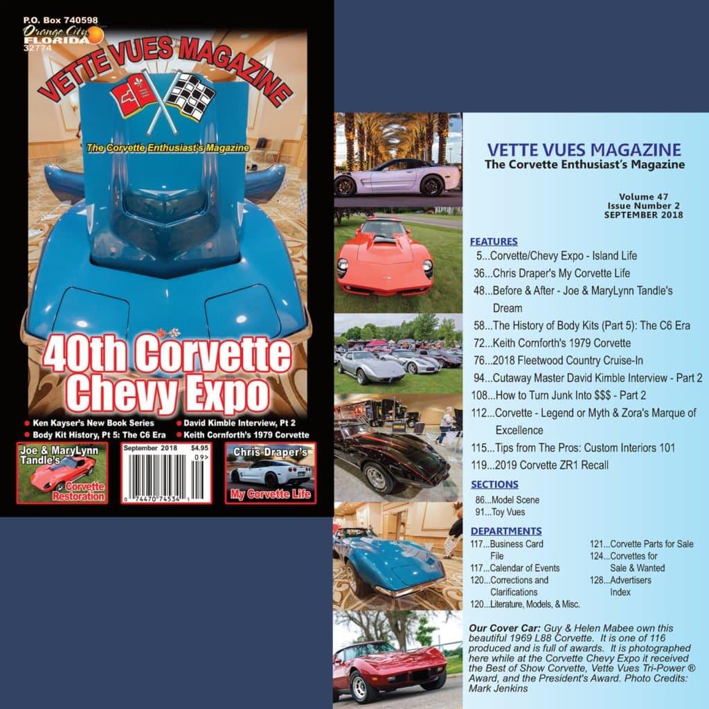 September 2018 Issue Preview Vette Vues Magazine