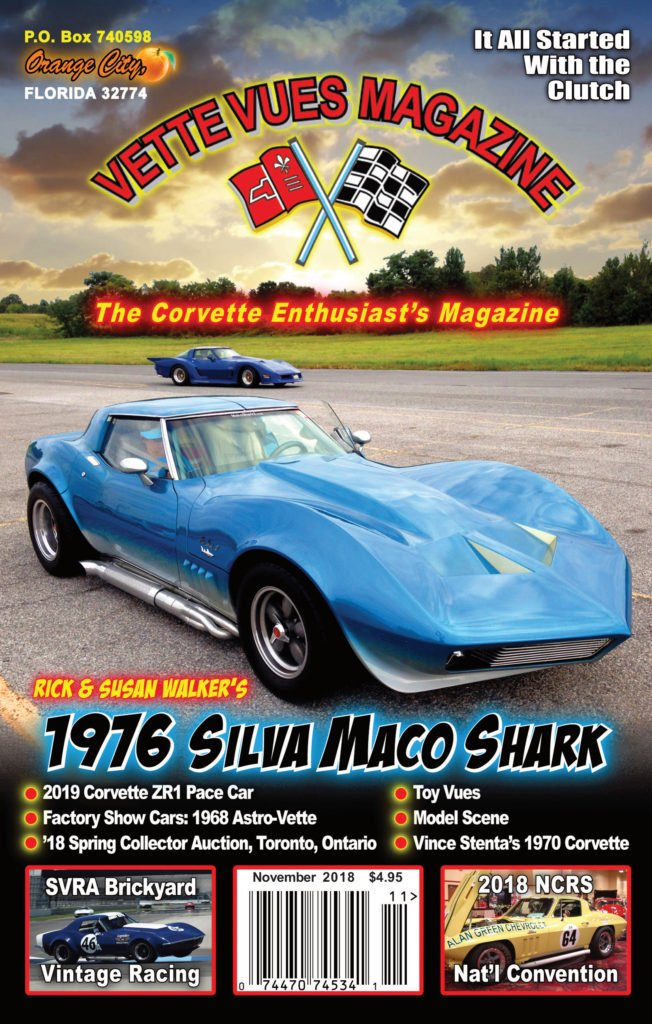 November 2018 Vette Vues Magazine Cover