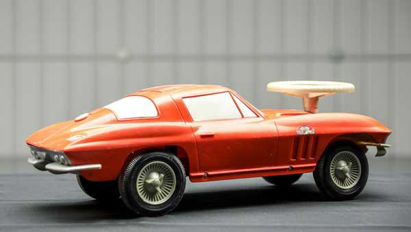 Vintage Republic Tool & Die C2 Corvette 427 Sting Ray Dealer Promo Child's Ride-On Toy Car. Photo courtesy of World Wide Auctioneers
