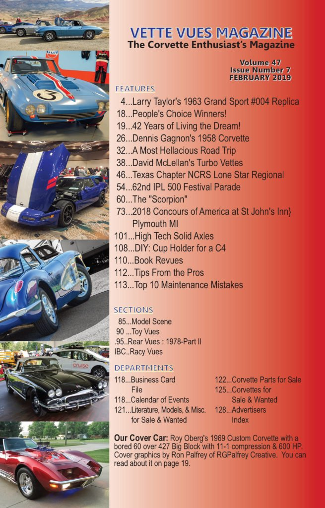 February 2019 Vette Vues Magazine Articles