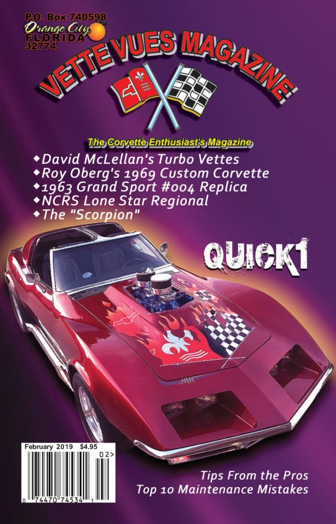 February 2019 Vette Vues Magazine Cover