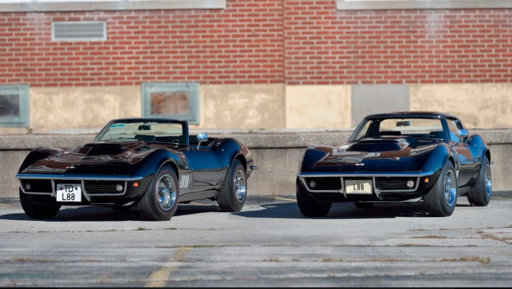 These two L88 Corvettes, one coupe, and one convertible, will be offered together as a pair at the 2019 Kissimmee auction.