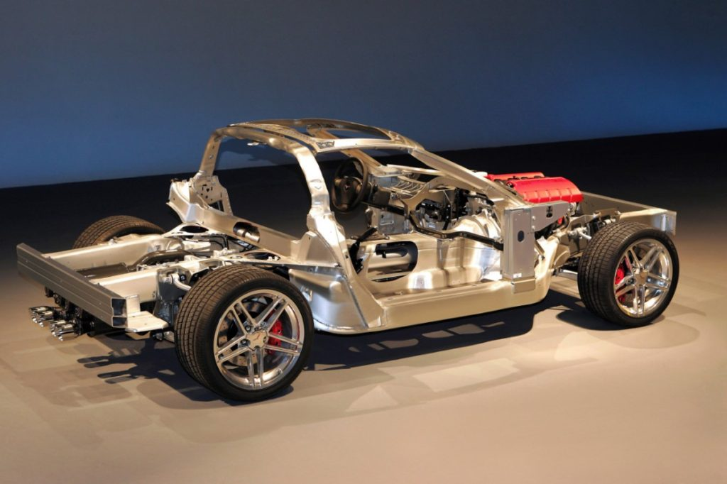 The C6 Corvette Z06 and ZR1 models are built on a unique aluminum-intensive chassis that helps these high-performance models achieve excellent power-to-weight ratios.