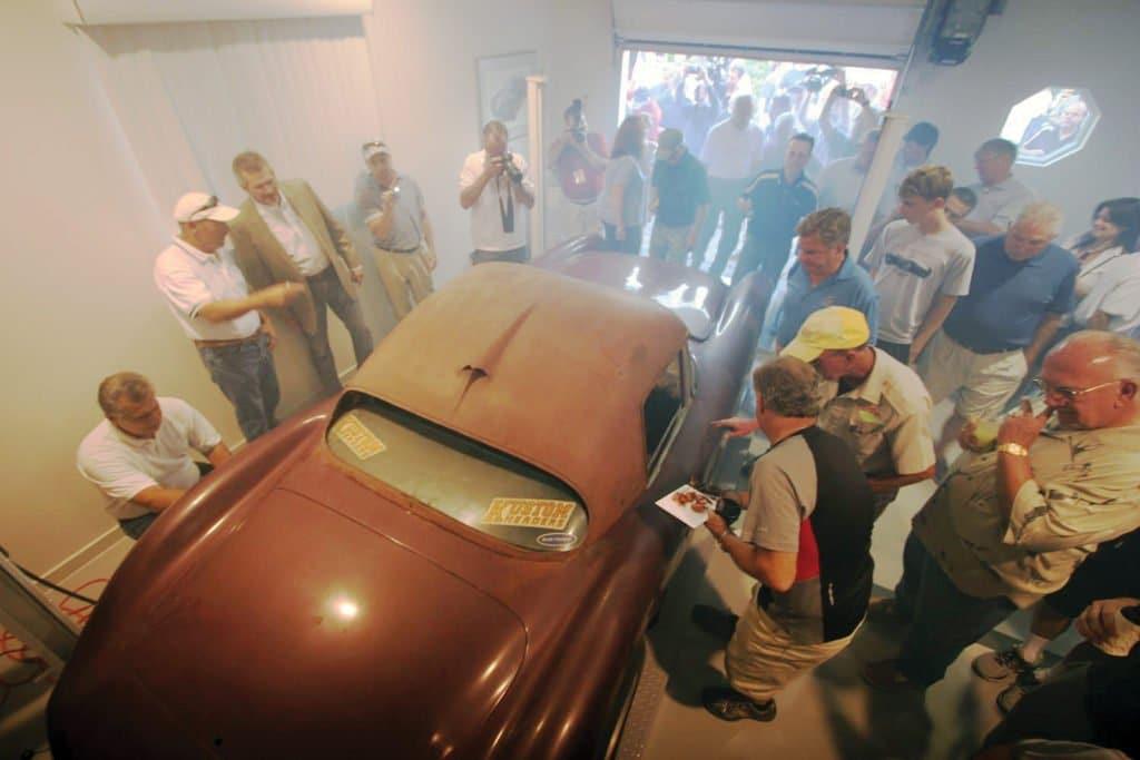 Briggs Cunningham 1960 Le Mans Corvette Racer revealed at Corvettes at Carlisle 2012.