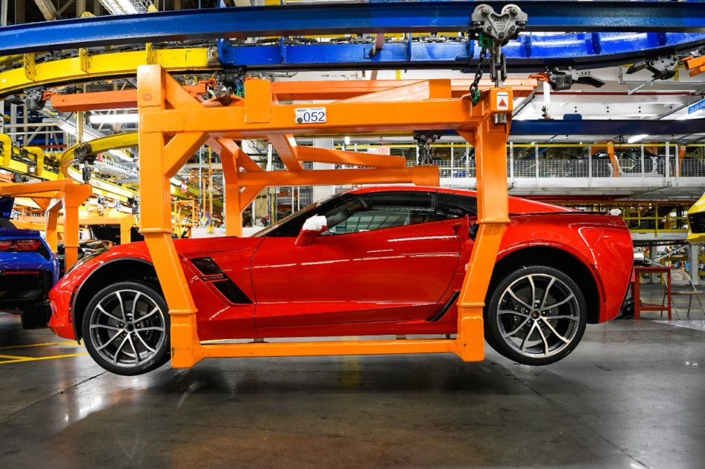 General Motors announces it is adding a second shift and more than 400 hourly jobs at the Bowling Green Assembly plant Thursday, April 25, 2019 in Bowling Green, Kentucky.  The second shift and additional jobs will support production of the Next Generation Corvette, which will be revealed on July 18. (Photo by Miranda Pederson for General Motors)