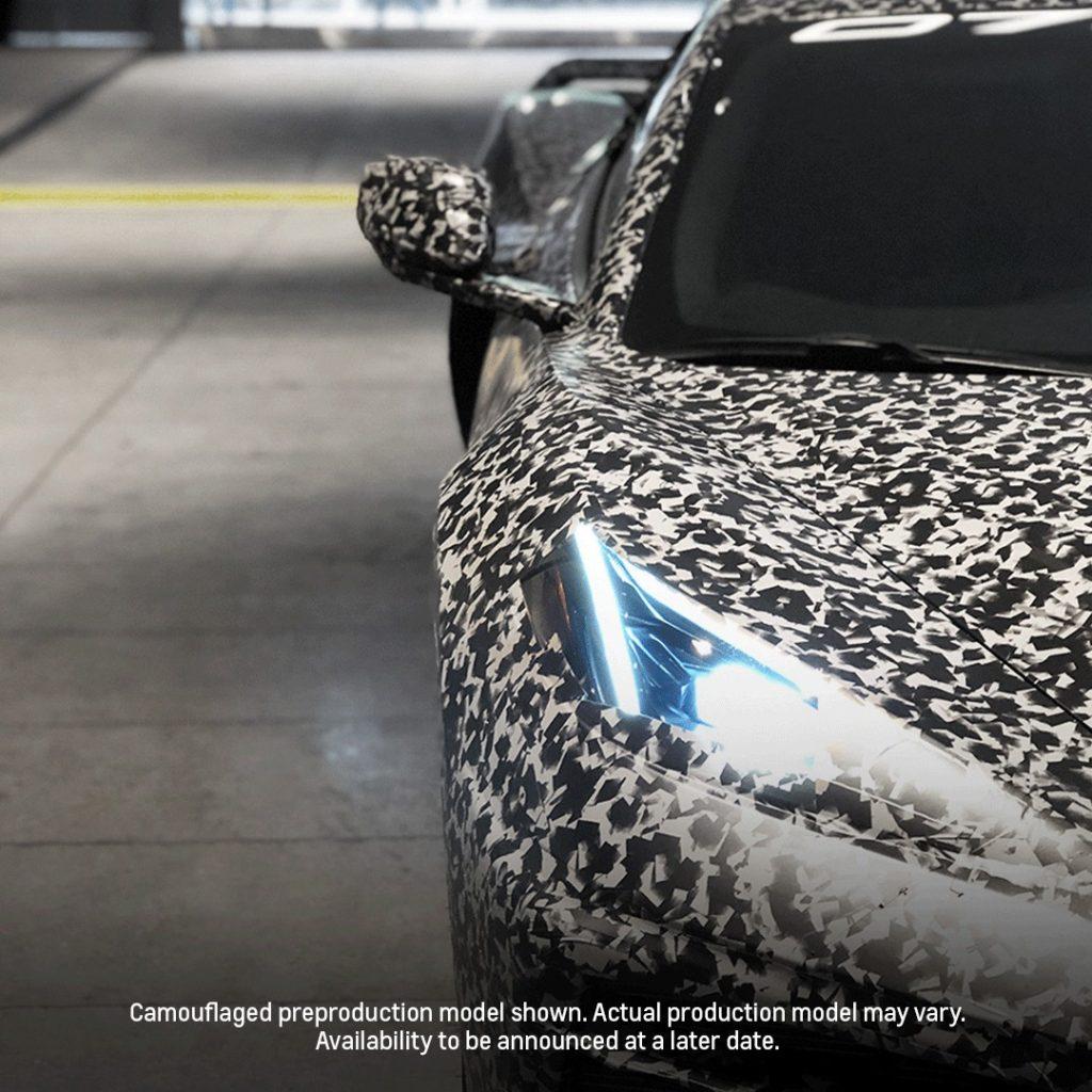 Camouflaged C8 Mid-Engine Corvette