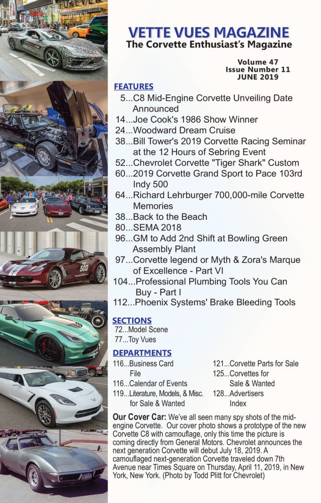 Articles in June 2019 Issue Vette Vues Magazine