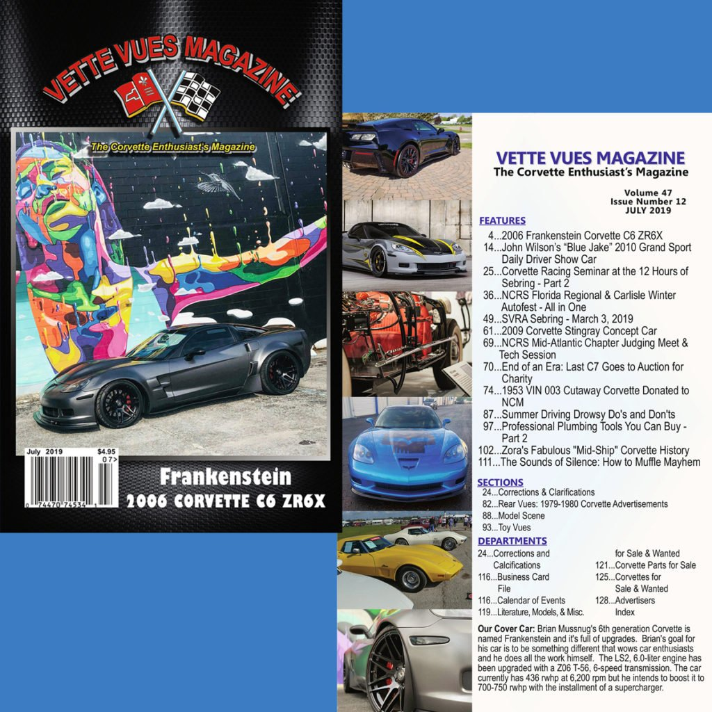 July 2019 Issue Preview Vette Vues Magazine