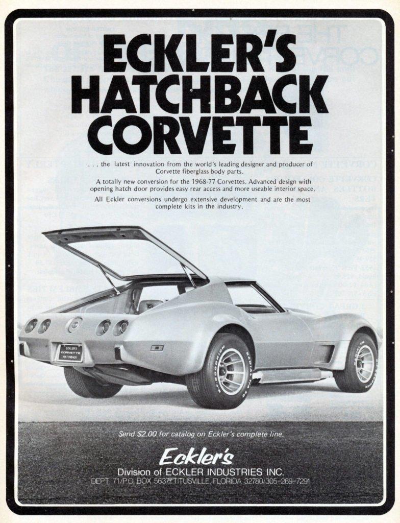 Eckler Corvette Hatchback Magazine Ad